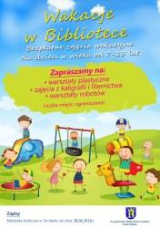 Harmonogram zajęć wakacyjnych dla dzieci